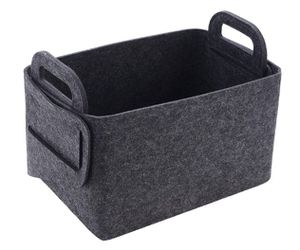 Storage Basket Felt Storage Bin Collapsible & Convenient Box Organizer with Carry Handles for Office Bedroom Closet Babie for Sale in Rancho Cucamonga, CA