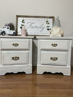 Newly Refinished Nightstands End Tables Farmhouse Style for Sale in Spanaway,  WA