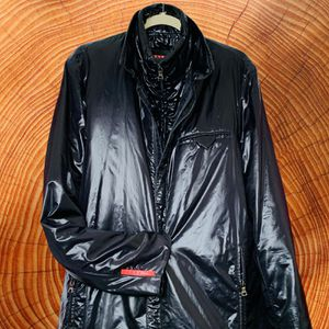 Prada Mens Coat Waterproof Rain Windbreaker Trench Coat 🧥 Size XL for Sale in Brooklyn, NY