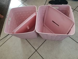 Storage containers pink for Sale in Muscoy, CA