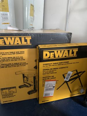 Dewalt 15amp Table saw and stand for Sale in Clearwater, FL