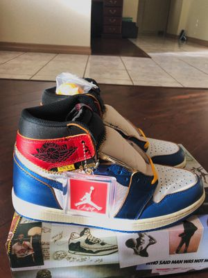 Nike air Jordan 1 union storm blue size 9 for Sale in Redlands, CA