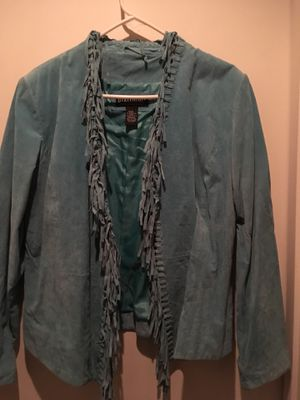 Cleaning Closet Sale- Suede Fringed Jacket for Sale in Westfield, MA