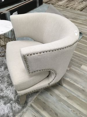 Barrel Back Accent chair Fabric and nail head for Sale in Des Plaines, IL