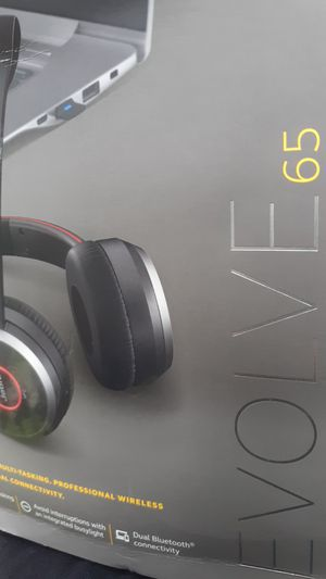 Jabra Evolve 65 MS Wireless Headset includes Link 370 USB Adapter for Sale in Lockhart, FL