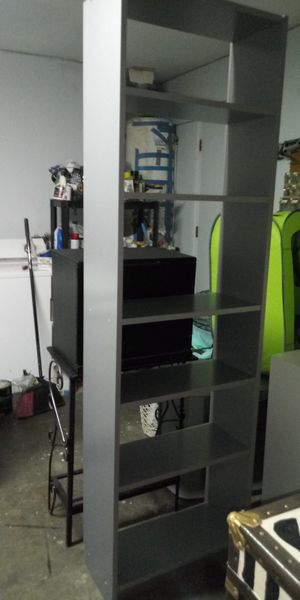 Silver Ikea adjustable bookshelves good condition 80 inches tall x 24 long x 10 wide for Sale in Missouri City, TX