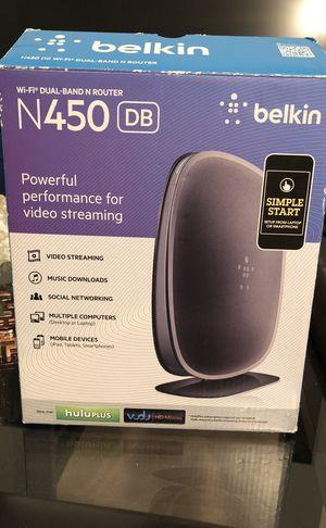 Belkin N450 DB wireless router for Sale in Queens, NY