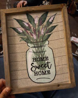Home sweet home wall decor for Sale in Spokane, WA