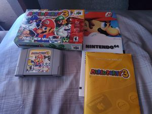 Mario Party 3 Complete in box for Sale in Lake Elsinore, CA