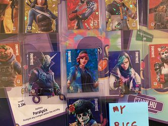 2020 PANINI FORTNITE SERIES 2 - Cracked Ice 11-CARD DANTE P10 PROMO Cards for Sale in Sylmar,  CA