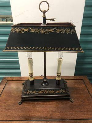 Antique Metal And Brass Table Lamp for Sale in Houston, TX