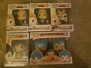 Funko Pop Dragonball Z and My Hero Academia Lot for Sale in Bellevue, WA