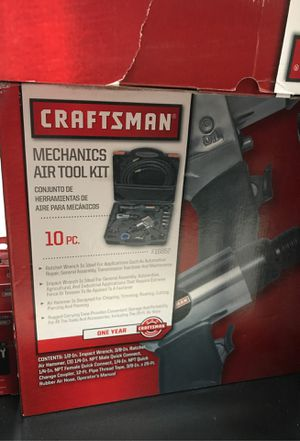 CRAFTSMAN 916852 10 Piece Air Tool Set w/ Impact & Ratchet Wrench & Air Hammer for Sale in Dearborn, MI