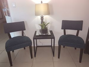 New chairs blue comes with tabole for Sale in Medley, FL