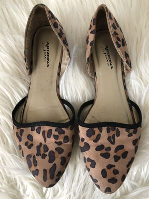 Leopard cheetah flats size 7 for Sale in Miami, FL