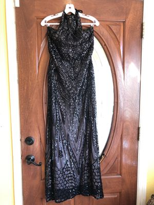 Black sequin prom dress for Sale in San Leandro, CA