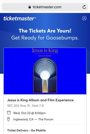 KANYE WEST JESUS IS KING for Sale in Inglewood, CA