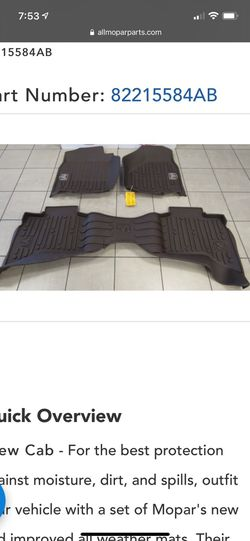 Dodge Ram All Weather Mats for Sale in Smithfield,  RI