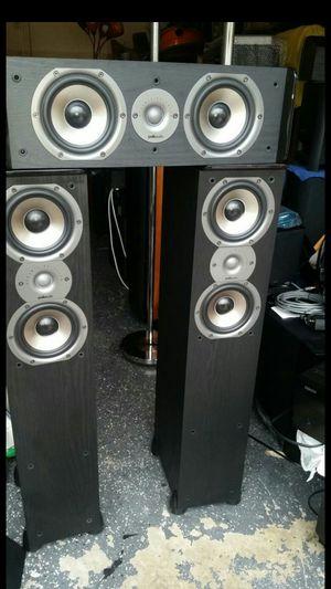 "Polk audio Black piano TSi300 3-Way Tower Speaker (Black semi gloss piano) CS10 Center Channel Speaker with Dual 5-1/4"" Drivers - Each (Black) for Sale in West Palm Beach, FL"