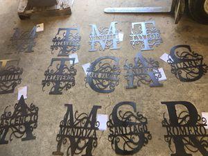 Large letter sign monogram split yard art decor vintage Xmas July 4th for Sale in Turlock, CA