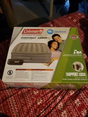 Coleman 18in guestrest airbed for Sale in Newton, MA