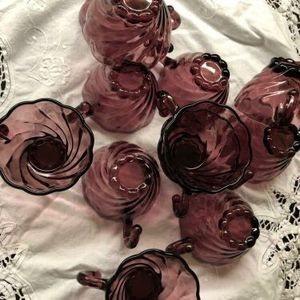 12 Amethyst Moroccan Colonial Swirl Punch 'hook handle' Cups for Sale in Holland, MI
