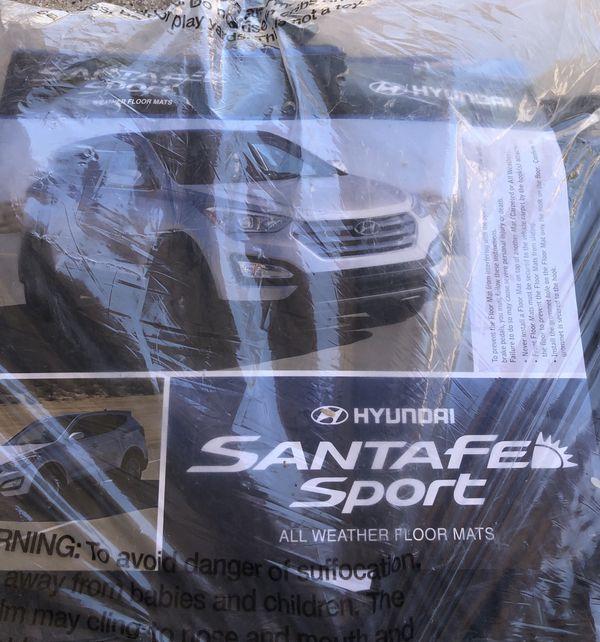 NEW OEM 2013-2018 Hyundai Santa Fe All Weather Floormats BLACK 4Z013 ADU01