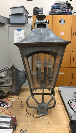Vintage copper pole lights(2) for Sale in National City, CA