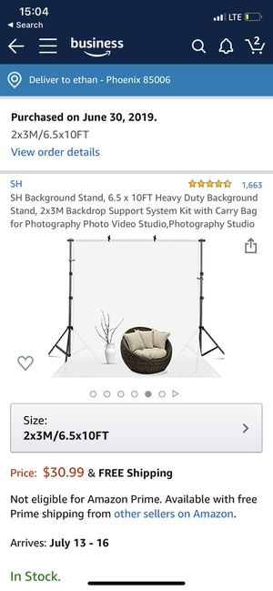 6.5x10ft Photo Backdrop Stand for Sale in Phoenix, AZ