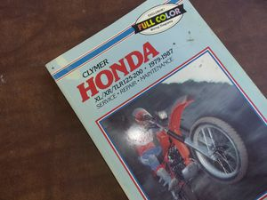 Clymer Motorcycle Repair Manual,Honda 79-87 XL,XR,TLR,125-200 for Sale in Calimesa, CA