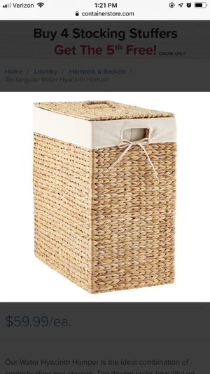 Container Store Laundry Hamper for Sale in Denver, CO