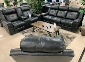 🆕️Same Day Delivery Black Reclining Living Room Set/ for Sale in Jessup, MD