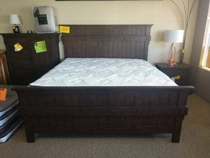 King Size Solid Wood Bed Frame for Sale in Spokane, WA
