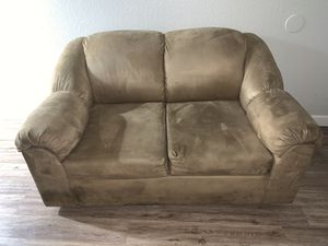 Tan suede couch for Sale in Sanger, CA