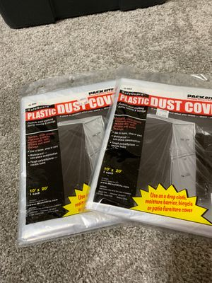 Two brand new dust plastic covers 10'x20', both fro $6 for Sale in Puyallup, WA