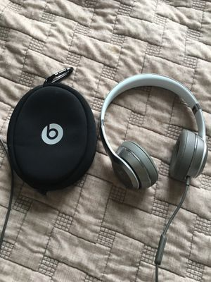 Beats wired silver headphones for Sale in Appomattox, VA