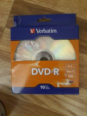 Verbatim 10pk DVD-R for Sale in Denver, CO