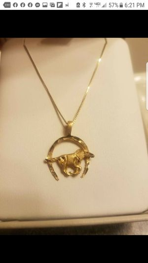 14k/10k Horseshoe with horse necklace for Sale in West Columbia, SC
