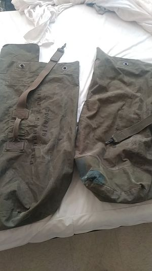 2 Military duffle bags for Sale in Newark, NJ
