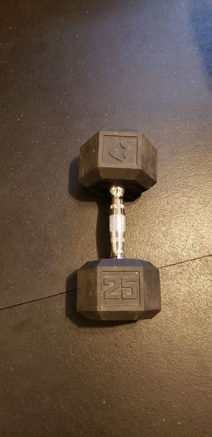 Hex Dumbbell   Rubber   25 Pounds for Sale in Goulds, FL
