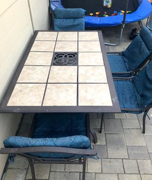 Outdoor patio dining set 7 ps furniture for Sale in Los Angeles, CA