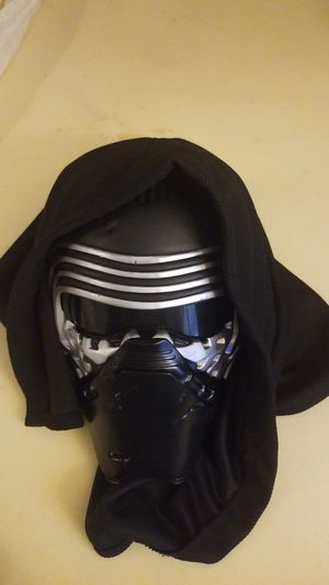 Official Disney store Kylo Ren voice changer mask with hood for Sale in Murfreesboro, TN