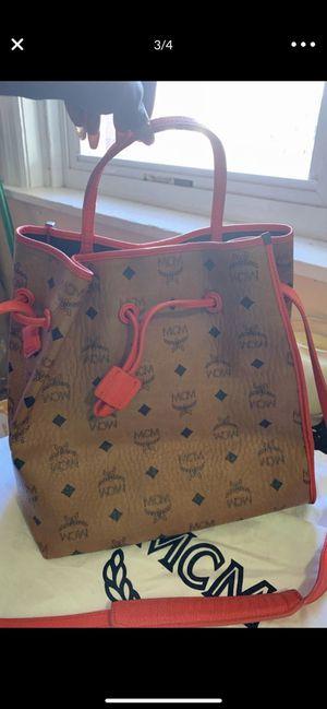 Mcm small satchel bag with neon orange trim (authentic) for Sale in Philadelphia, PA