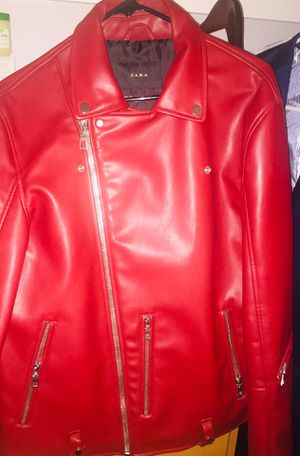 Limited Edition 2019 Red Leather Jacket for Sale in Santa Clara, CA
