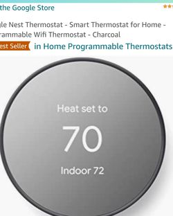 Google Nest Thermostat - Smart Thermostat for Home - Programmable Wifi Thermostat - Charcoal for Sale in Byron,  CA