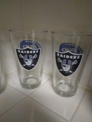 Oakland Raider glasses for Sale in Las Vegas, NV