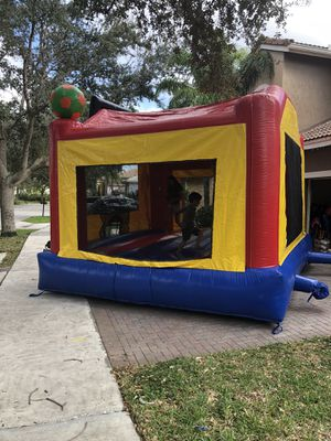 Ninja jump Inc. Sports themed bounce house...handles 1000 pounds or up to 10 people At a time for Sale in Pompano Beach, FL