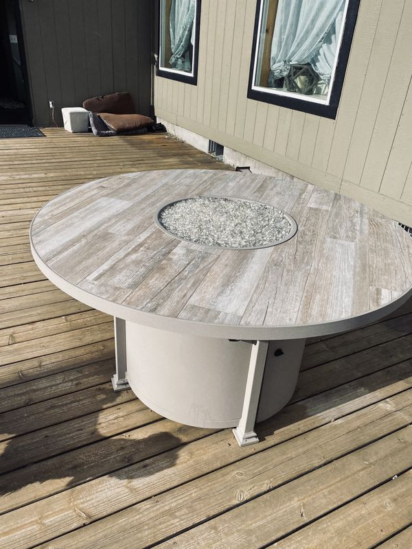 Custom Fire pit dining table