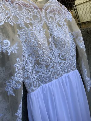 Women's Dress, lace top, white & nude, long Large/ Extra large for Sale in Gresham, OR