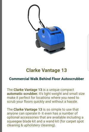 Clarke vantage 13 Carpet and upholstery cleaner for Sale in Philadelphia, PA